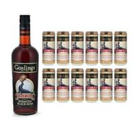 Gosling's Black Seal Rum 70cl mit 12x Gosling's Ginger Beer