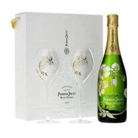 Perrier-Jouët Belle Epoque Brut Champagner 75cl, Set mit 2 Gläser