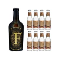 Ferdinand's Goldcap Saar Dry Gin 50cl mit 8x Doctor Polidori's Dry Tonic Water
