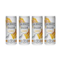 Smirnoff Seltzer Orange & Grapefruit 25cl, Pack de 4