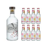 Jinzu Gin 70cl avec 8x Lamb&Watt Hibiscus Tonic Water