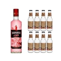 Beefeater Pink Gin 70cl mit 8x Doctor Polidori's Dry Tonic Water