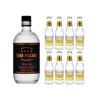 Four Pillars Rare Dry Gin 70cl mit 8x Fever Tree Premium Indian Tonic Water