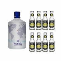 Nordés Atlantic Galician Gin 70cl mit 8x Fentimans Tonic Water