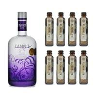 Tann's Dry Gin 70cl avec 8x Le Tribute Tonic Water