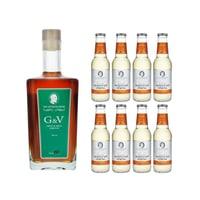 The Seventh Sense G&V Frucht- und Gewürzlikör 50cl mit 8x Swiss Mountain Spring Ginger Beer