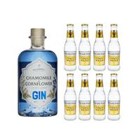 Secret Garden Gin Kamille & Kornblume 50cl mit 8x Fever Tree Tonic Water