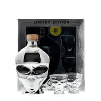 Outerspace Vodka Chrome Edition 70cl Set mit 2 Shotgläser