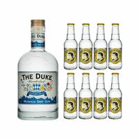 The Duke Wanderlust Munich Dry Gin 70cl avec 8x Thomas Henry Tonic Water