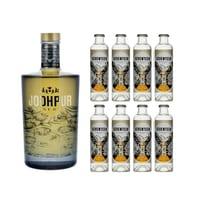 Jodhpur Reserve Dry Gin 50cl mit 8x 1724 Tonic Water