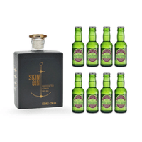 Skin Gin Anthrazit 50cl mit 8x Fentiman's Herbal Tonic Water