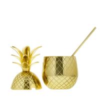 Pineapple Becher gross (gold)