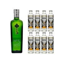 London No.3 Dry Gin 70cl avec 8x 1724 Tonic Water