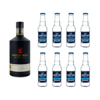 Whitley Neill Handcrafted Dry Gin 70cl mit 8x Erasmus Bond Dry Tonic