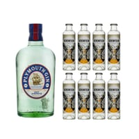 Plymouth Navy Strength Gin 70cl mit 8x 1724 Tonic Water
