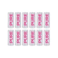 PURE Hard Seltzer Rhubarb 33cl, 12er-Pack