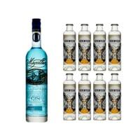 Magellan Blue Gin 70cl avec 8x 1724 Tonic Water