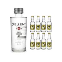 Xellent Swiss Edelweiss Gin 70cl mit 8x Thomas Henry Tonic Water