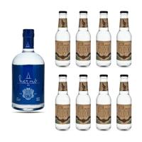 Hernö Swedish Exellence Bio Gin 50cl mit 8x Doctor Polidori's Cucumber Tonic Water