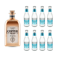 Copperhead The Alchemist's Gin 50cl avec 8x Fever Tree Mediterranean Tonic Water