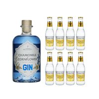 Secret Garden Gin Kamille&Kornblume 50cl avec 8x Fever Tree Tonic Water
