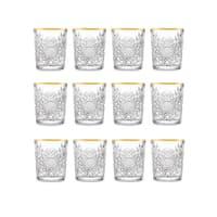 Libbey Hobstar D.O.F. Glas mit Goldrand 35.5cl, 12er-Pack