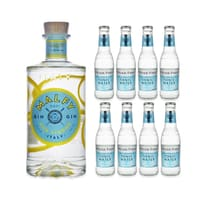 Malfy Gin con Limone 70cl avec 8x Fever Tree Mediterranean Tonic Water