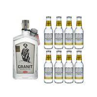 Granit Bavarian Gin 70cl avec 8x Swiss Mountain Spring Classic Tonic Water