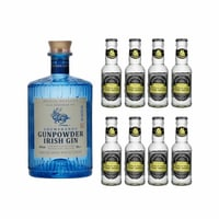 Gunpowder Gin 50cl mit 8x Fentimans Tonic Water