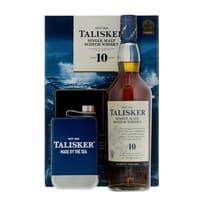 Talisker 10 Years Single Malt Whisky 70cl Ensemble avec Flasque