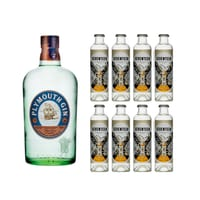 Plymouth Original Gin 70cl mit 8x 1724 Tonic Water