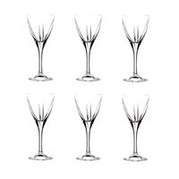 RCR Trends Fusion Weinglas, 6er-Pack