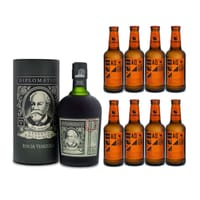 Diplomatico Reserva Exclusiva Rum 70cl mit 8x Aqua Monaco Hot Ginger