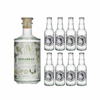Ornabrak Single Malt Gin 70cl avec 8x Thomas Henry Slim Tonic Water