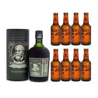 Diplomatico Reserva Exclusiva Rum 70cl avec 8x Aqua Monaco Hot Ginger