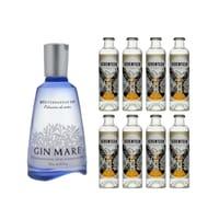 Gin Mare Mediterranean Gin 70cl mit 8x 1724 Tonic Water