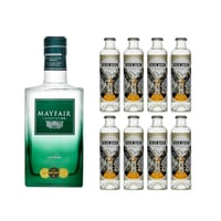 Mayfair London Dry Gin 70cl mit 8x 1724 Tonic Water