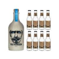 Knut Hansen Dry Gin 50cl mit 8x Doctor Polidori's Cucumber Tonic Water