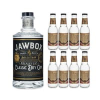 Jawbox Classic Dry Gin 70cl mit 8x Doctor Polidori's Tonic Water