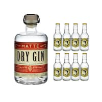 Matte Dry Gin 50cl mit 8x Thomas Henry Tonic Water