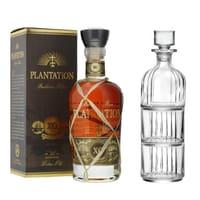 Rum Plantation Barbados XO Extra Old avec RCR Décanteur et Verres