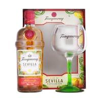Tanqueray Flor de Sevilla Gin 70cl Set mit Copa Glas