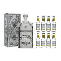 Czar's Village Vodka 70cl mit 8x Swiss Mountain Spring Ginger & Lemongrass