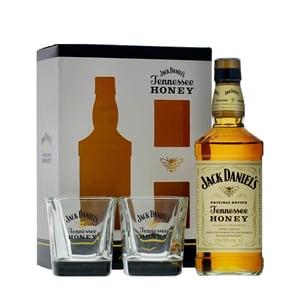 Jack Daniel's Honey Whiskey 70cl Set avec 2 Verres