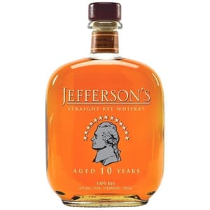 Jefferson's Straight Rye Whiskey 10 Years 75cl