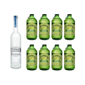 Belvedere Vodka 70cl mit 8x Bundaberg Lemon, Lime & Bitters