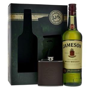 Jameson Irish Whiskey 70cl mit Flachmann