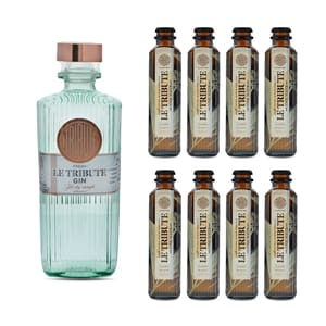 Le Tribute Gin 70cl mit 8x Le Tribute Tonic Water