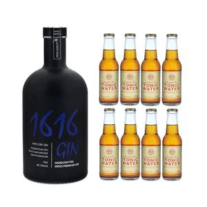 Langatun Gin 1616 70cl mit 8x Tom's Tonic Water