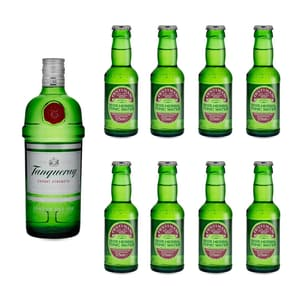 Tanqueray London Dry Gin 70cl mit 8x Fentiman's Herbal Tonic Water